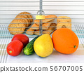 Sweet cookies are in a cage locked with padlock. 56707005