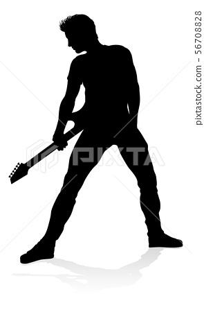 Guitarist Musician Silhouette 56708828