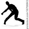 Street Dance Dancer Silhouette 56708843