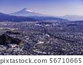 (Shizuoka Prefecture) Cityscape of Shizuoka City and Mt. Fuji 56710665