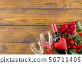 Valentines day romantic decoration with roses and 56711495