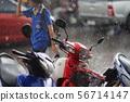 동남아시아 (태국)의 갑작스런 스콜 56714147