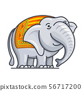Vector illustration of elephant 56717200