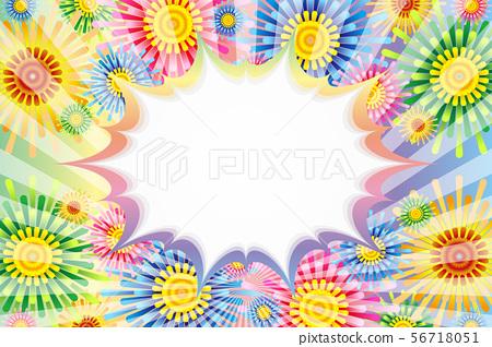 矢量圖背景材料,氣球,花卉,標題空間,海報,免費大小,免費的煙花 56718051