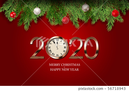 Merry Christmas and New Year Background. Vector 56718943
