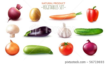 Natural Vegetables Realistic Set 56719693