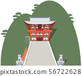 Tsuruoka Hachimangu image Sightseeing area illustration icon 56722628