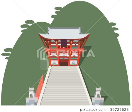 Tsuruoka Hachimangu image Sightseeing area illustration icon 56722628