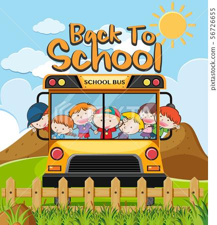 Kids in Bus Back to School 56726655