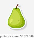 Sticker design with fresh pear 56726686