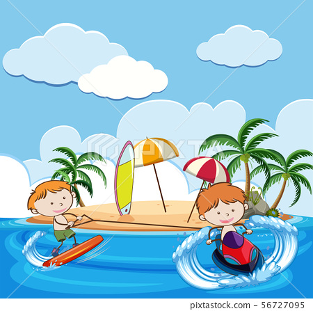 Summer Holiday with Water Activities 56727095