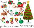 Set of christmas elements on white background 56727683