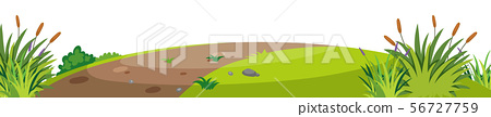 Landscape background with trail on small hill 56727759
