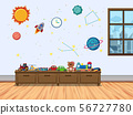 Children room with window and toys 56727780