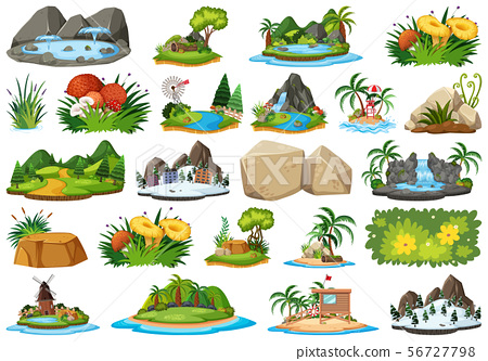 Set of different plants and landscapes 56727798