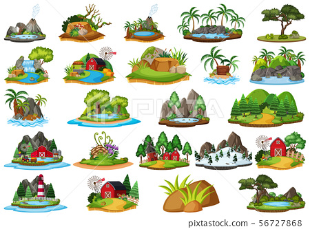 Large group of isolated objects theme - landscapes 56727868
