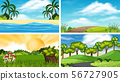 A set of outdoor scene including tree 56727905
