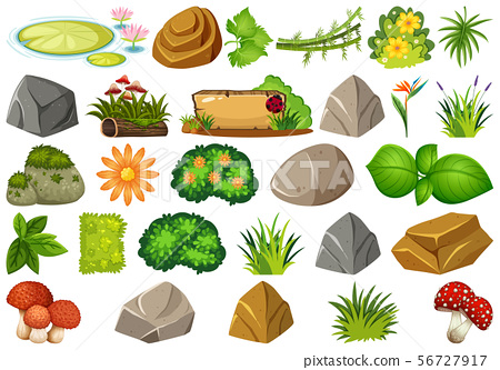 Set of isolated objects theme - gardening 56727917
