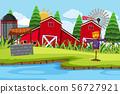 An outdoor scene with farm 56727921