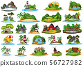 Large group of isolated objects theme - landforms 56727982
