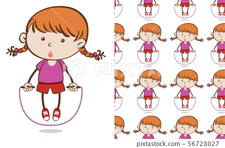 A seamless pattern on white of simple kid 56728027