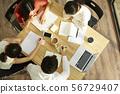 Gender business overhead view 56729407
