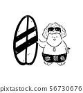 手持冲浪板的冲浪男孩 - Boy surfer holding surfboard 56730676