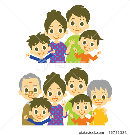 가족 부모 세대 아이 가구 상반신 56731328