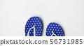 Blue flip flops 56731985