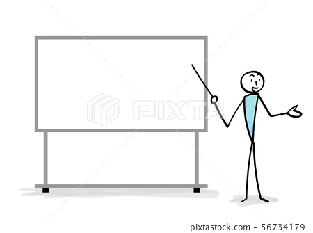 Whiteboard and explaining person 56734179