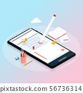 iso phone calendar app time management vector 56736314