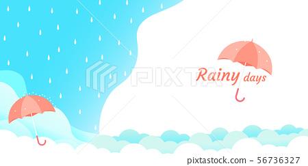 rainy season umbrella float on sky vector 56736327