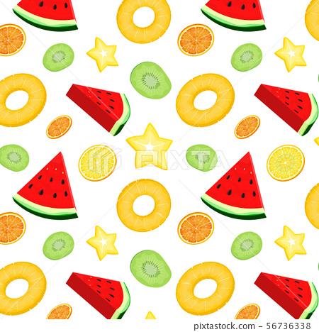 summer fruits seamless background vector 56736338