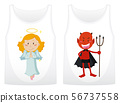 Two shirts design with angel and devil 56737558
