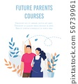 Flat Poster Advertising Future Parents Courses 56739961