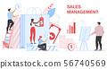 Sales Management Banner. Financial Statistic. 56740569