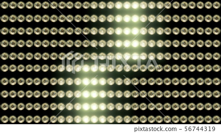 3D rendering of a wall with flashing lights 56744319