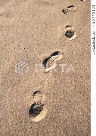footprintBongpo beach in Goseong-gun, South Korea. 56745133