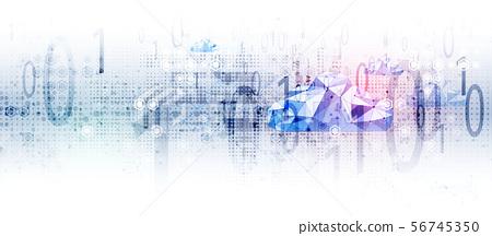 Cloud technology. Integrated digital web concept 56745350