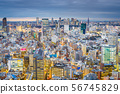 Tokyo, Japan cityscape view over the Ebisu 56745829