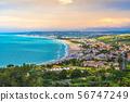 south italy sea mediterranean coast sunset in Vasto Marina - Abruzzo region - Chieti province - 56747249
