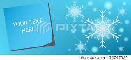 Greeting cards in winter season on shape snowflak 56747383