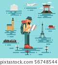 Tourist with map 56748544