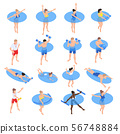 Aqua Aerobics Isometric Set  56748884