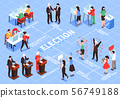 Elections Isometric Flowchart Composition 56749188
