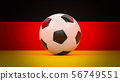 Germany flag with soccer ball 56749551