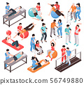 Isometric Rehab People Icons 56749880