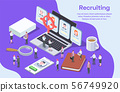 Human Resources Isometric Composition 56749920
