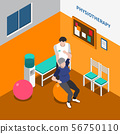 Physiotherapy Rehabilitation Isometric Poster 56750110