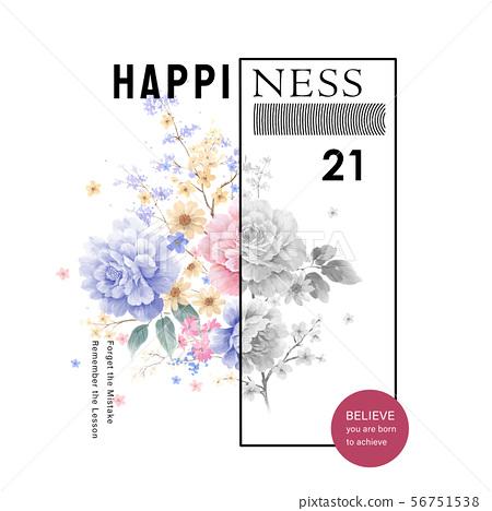 優雅的水彩花卉和海報設計 56751538